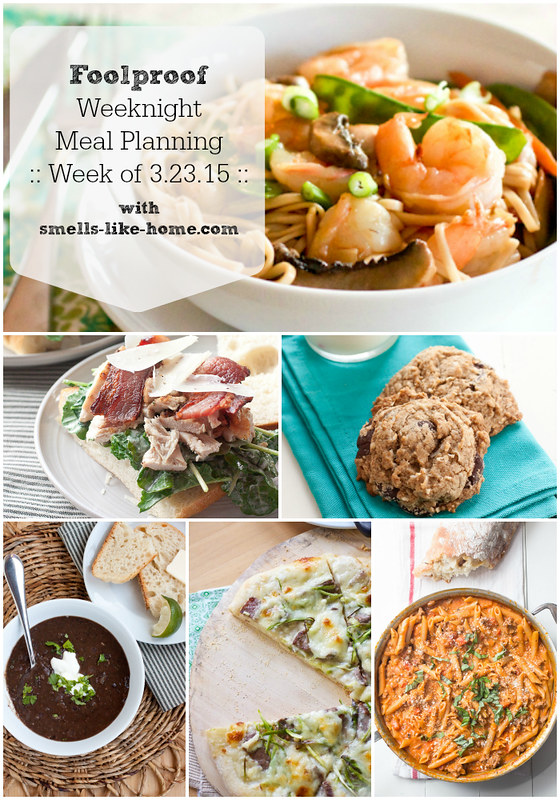 Foolproof Weeknight Meal Planning - Week of 3.23.15