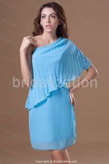 Blue Holiday Short/ Mini Blue Chiffon Special Occasion Homecoming Dresses