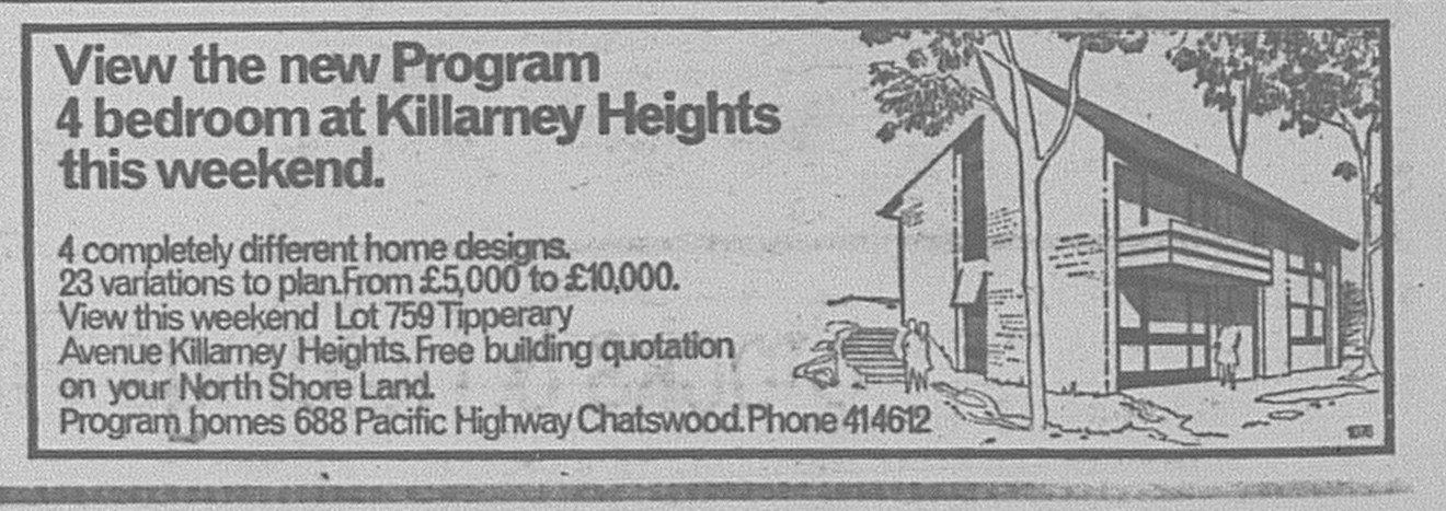 Killarney Heights Ad July 29 1967 daily telegraph 24