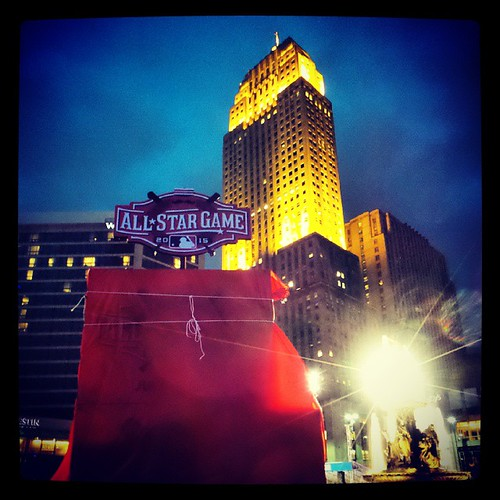 Downtown Cincinnati continues to prepare for 2015 MLB All-Star Game...