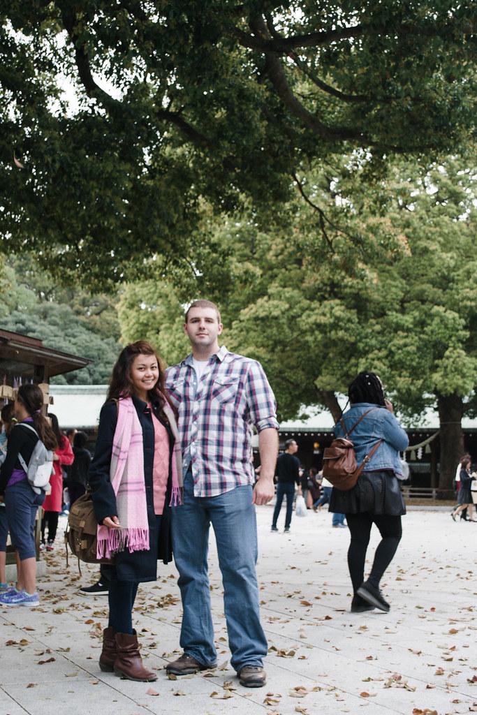 Eric and I in Meiji Shrina, Shibuya
