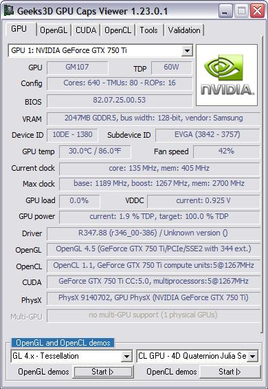 NVIDIA GeForce driver 347 88