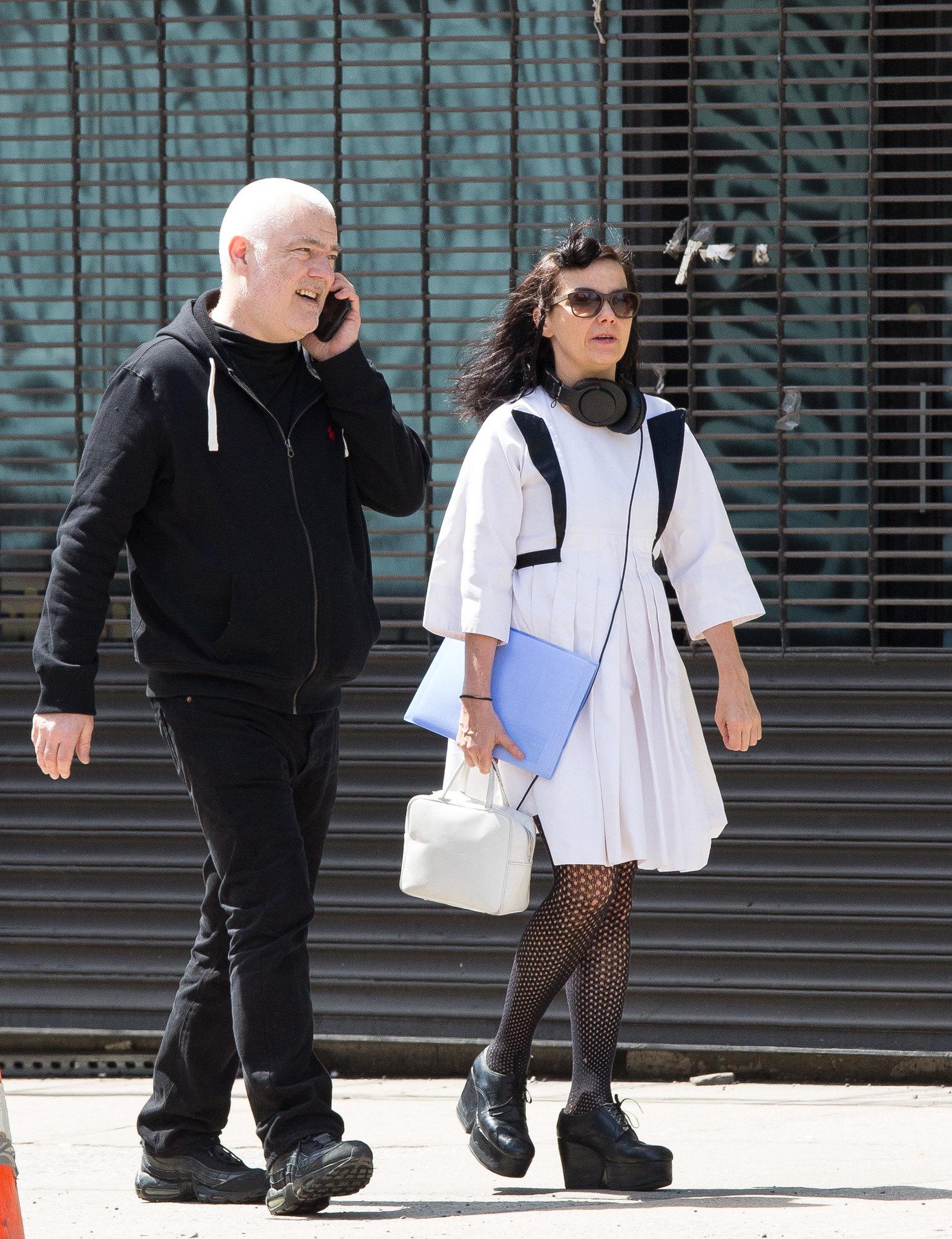 Singer Bjork seen out walking around Chinatown NYC 4/15/15 ...