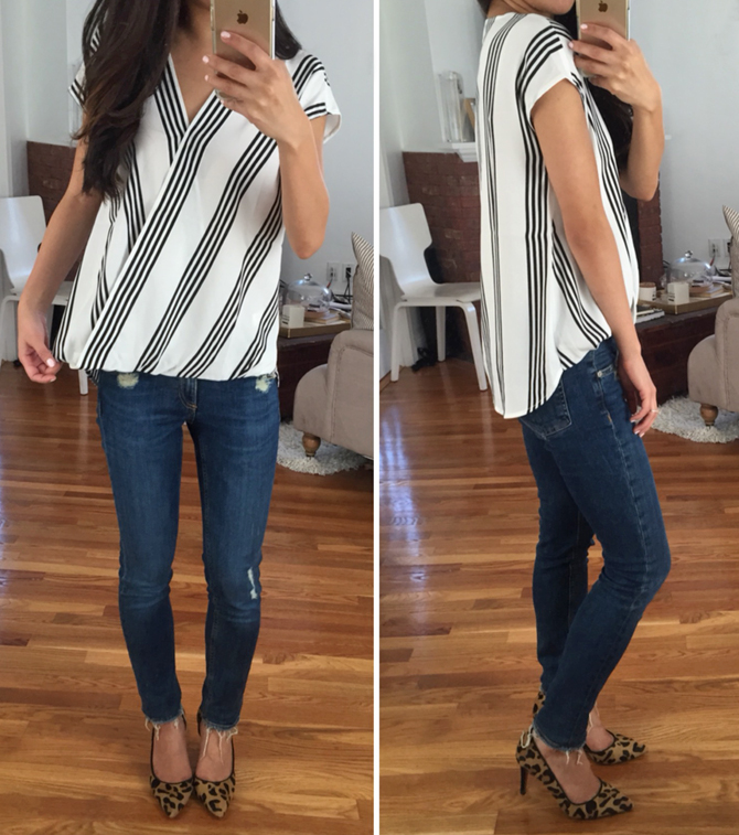 ann taylor striped top2