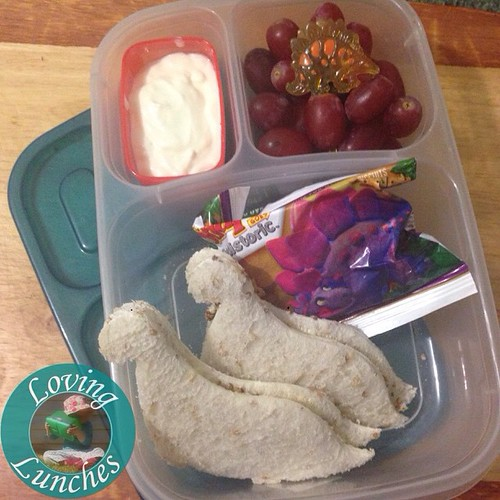 Loving a simple dinosaur lunch today… with our #easylunchboxes