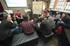 Kleine Gruppen intensive Debatte.