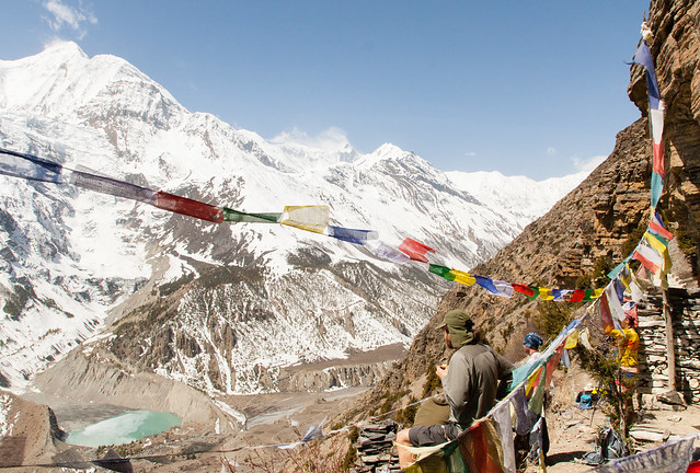 Prayer flags at the monastery