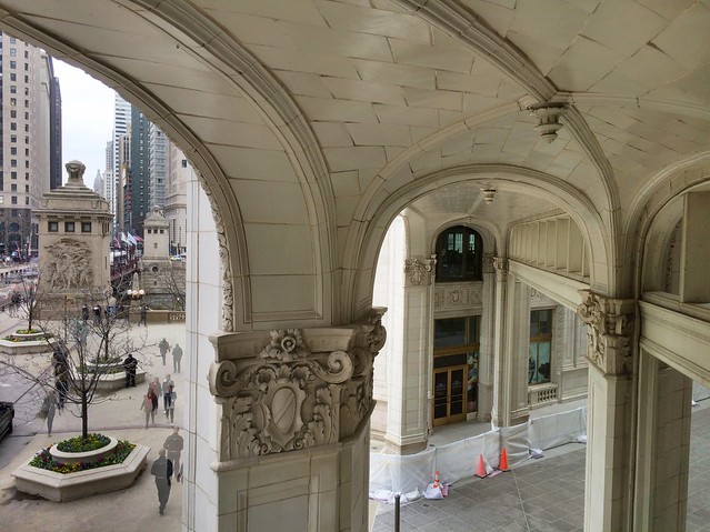 The second floor view from the Wrigley Building Walgreens is fantastic.