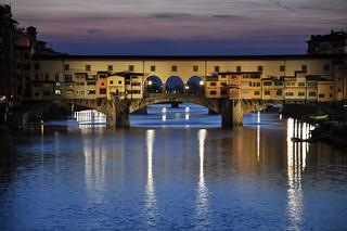nightfall over Ponte Vecchio