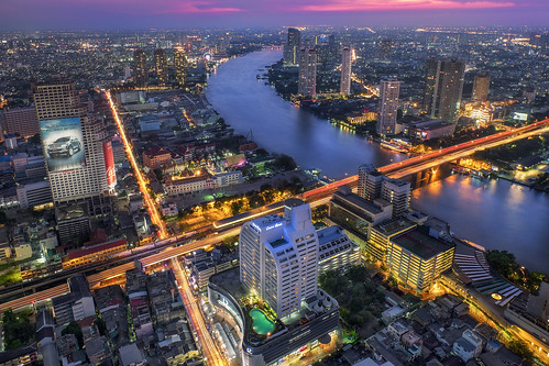 city longexposure travel vacation night river thailand lights asia cityscape traffic cloudy bangkok fujifilm bluehour southeast th cityview krungthepmahanakhon xt1 1655mm
