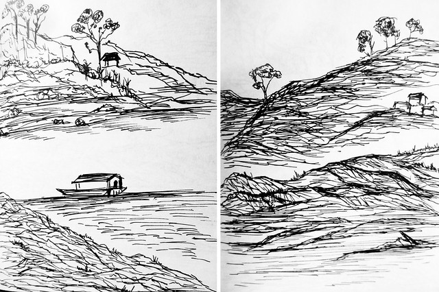 Laos: 5 minute sketches