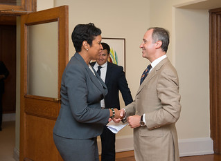 July 11, 2016 Mayor Bowser with Ambassador of Italy