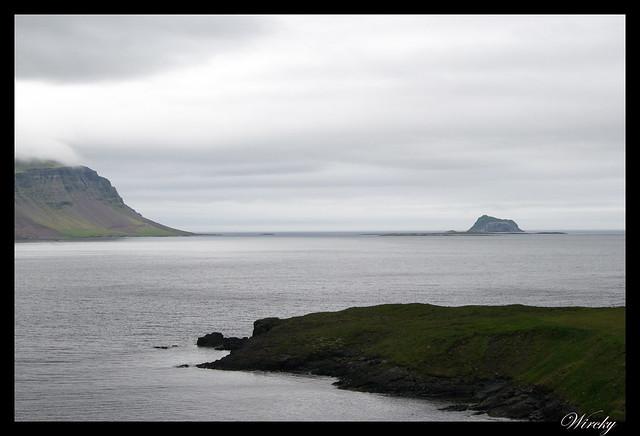 Isla de Skrudur en Fiordo Fáskrúðsfjörður