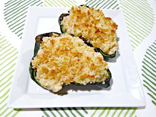 Shrimp Stuffed Poblanos
