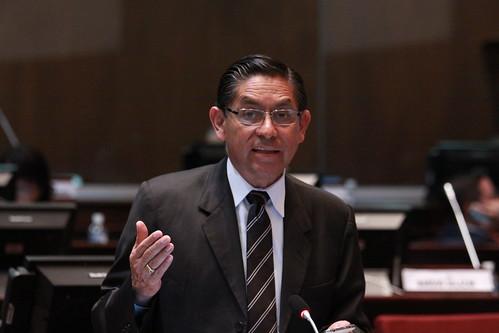 Asambleísta Mauro Andino, interviene en la sesión 317 del Pleno - Punto de Información
