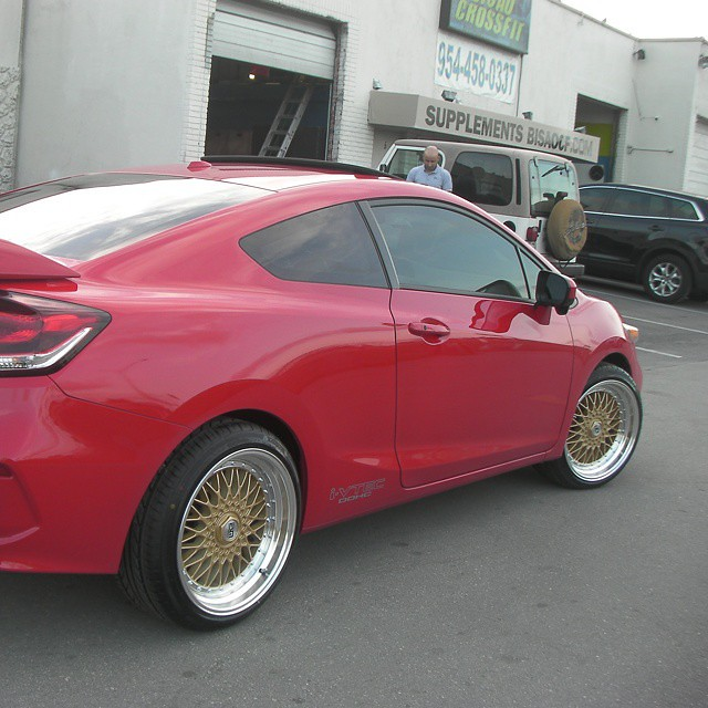 18 inch esm 002 gold w machine lip wheels 2015 honda for Gold honda civic
