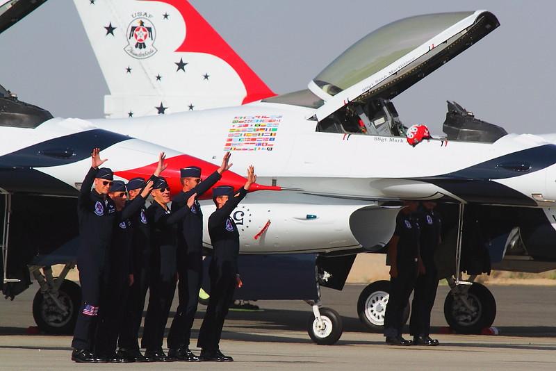 IMG_8106 Thunderbirds Pilots, LA County Air Show