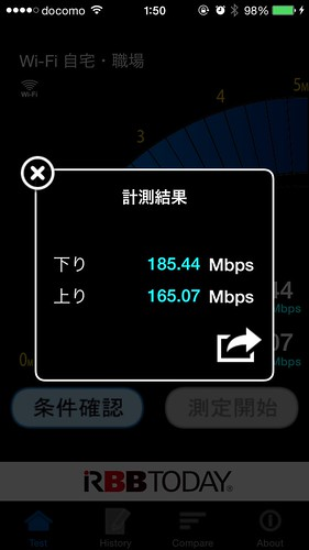 iPhone 通信 速度 Wi-Fi