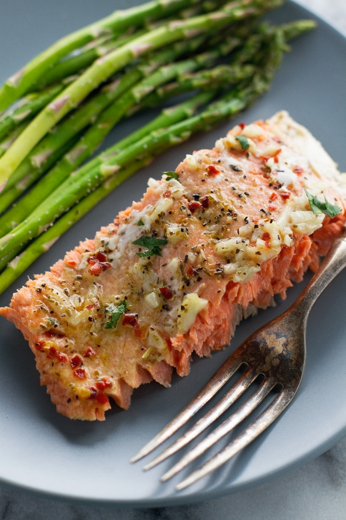 Garlic Butter Baked Salmon In Foil Recipe Little Spice Jar