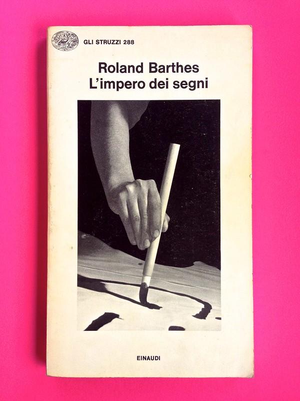 Roland Barthes, L'impero dei segni. Einaudi 1984. Copertina (part.), 1