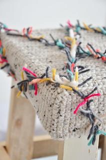 wood & wool harlequin stool