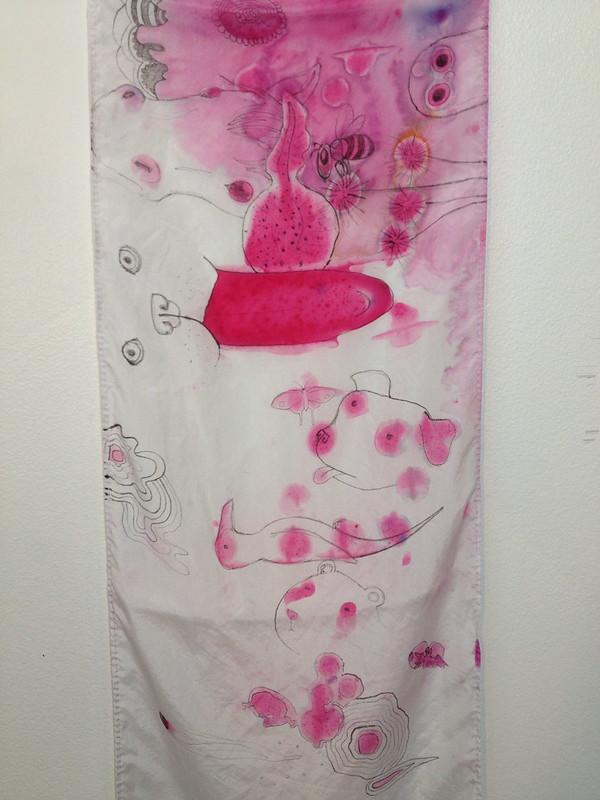 inkblot doodle scarf