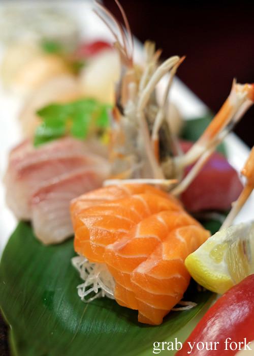 Salmon sashimi at Ashin, Campsie