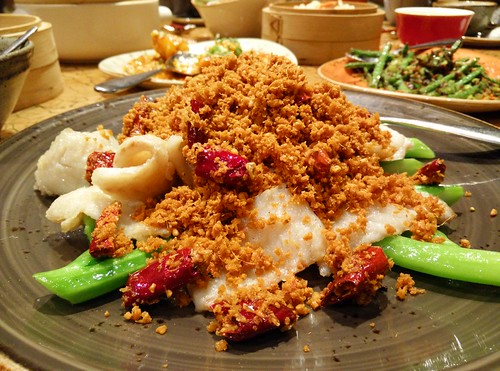 Fish with some kind of soy topping