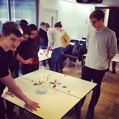 @SteveGranshaw about to show the @GA_London #UXDI students card sorting w/candy #UX