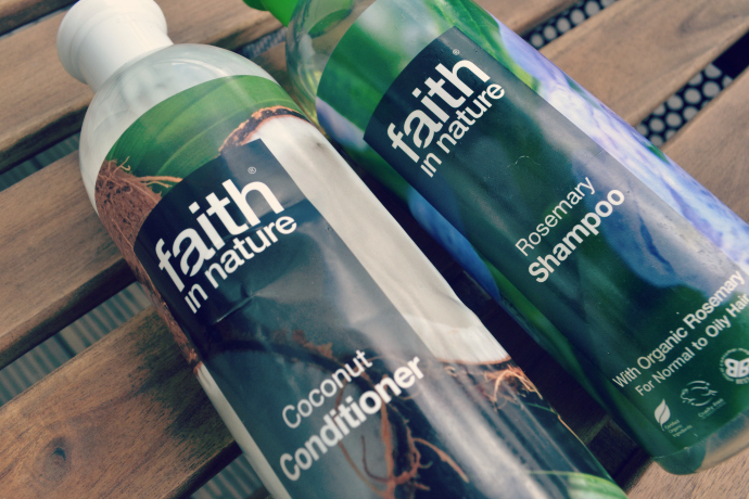 Faith in Nature rosemary shampoo coconut conditioner