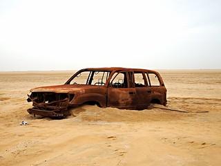 A car that met its fate