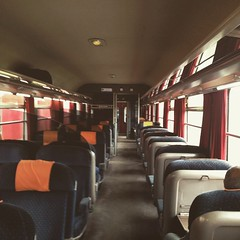 The first class cabin to #Fes is almost empty. I guess travelers doesn't really need to book a ticket in advance. It's just a waste of time. Departing time is 9:10 and the train goes every hour as well. #travel diaries #traveltips #morocco
