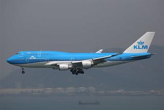 "Boeing, 747-406(M), PH-BFT, ""KLM"", VHHH, Hong Kong"