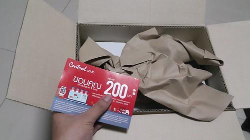ภายในกล่อง มี Voucher ลด 200 บาท สำหรับซื้อคราวต่อไปอีก