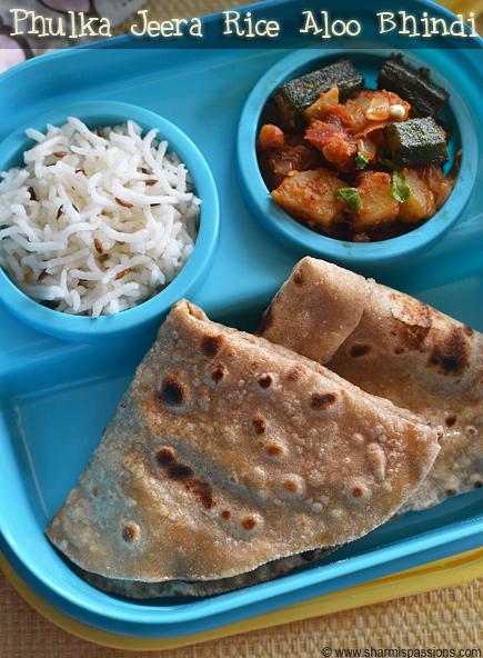 Phulka Aloo Bhindi Sabji