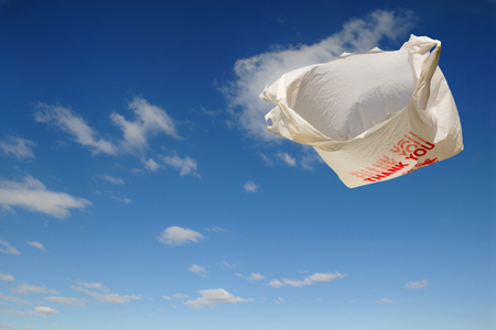 Image result for floating white plastic bag on street