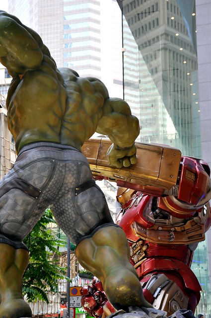 The Incredible Hulk versus Iron Man