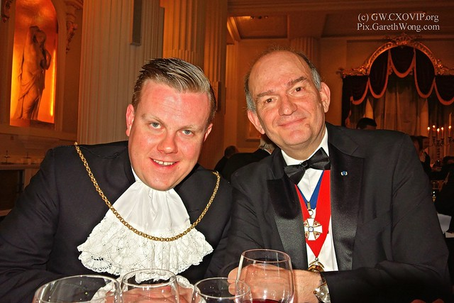 James North,Swordbearer & Senior Programme Manager at City of London Corporation and Kevin Everett,  Treasurer and Chairman of the Board of Sir John Cass's Foundation, from RAW _DSC7356
