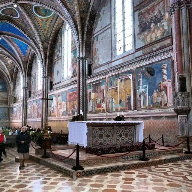 The upper part of the Basilica of Saint Francis in Assisi