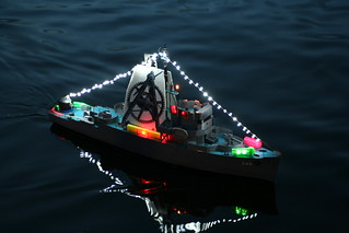 USS Hazard with Lights