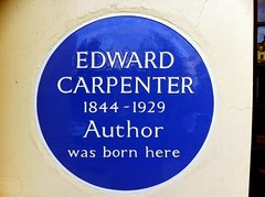 Photo of Edward Carpenter blue plaque