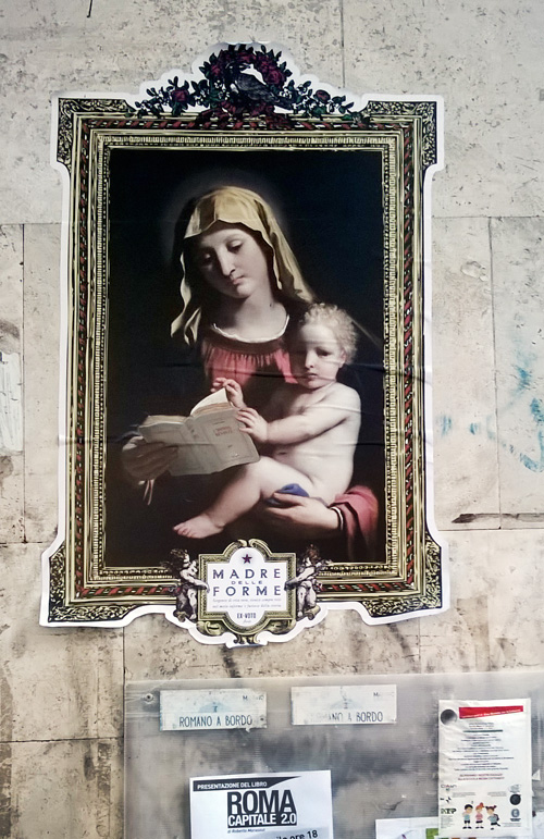 Ex voto Street Art Testaccio
