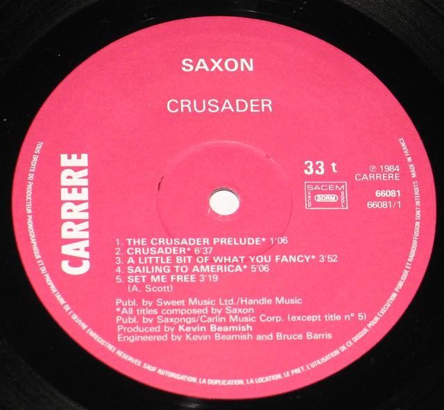 "Saxon Crusader NWOBHM 12"" Vinyl LP"