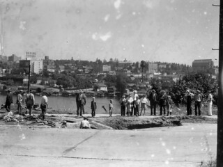 Water main break on Fuhrman near Eastlake, 1931