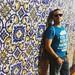 """[Day 4 - Step 8] Aveiro, cittá sulla costa nota anticamente per i numerosi volatili, e impropriamente detta """"A Veneza Portuguesa"""" - Gregorio e os Azulejos na fachada da igreja. #RoadtripPortoluso #portugal #portugaldenorteasul #aveiro #azulejos"""