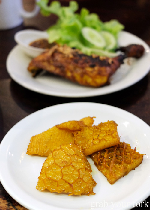 Babat goreng fried tripe at Indo Rasa, Kingsford