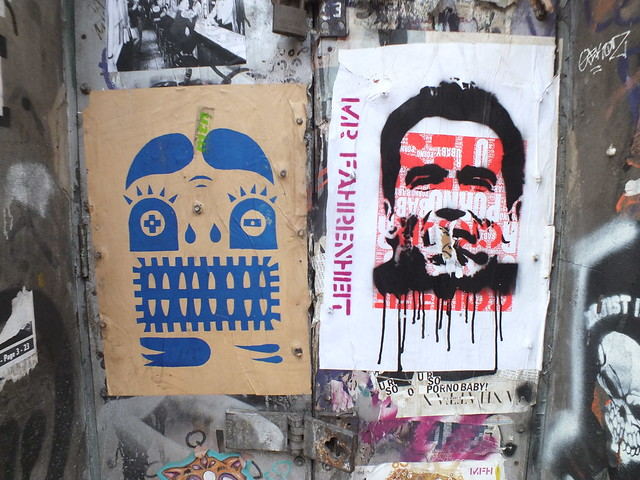 Paste ups and stickers in Shoerditch, London