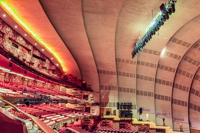 Auditorium and balconies, at the Radio City Music Hall