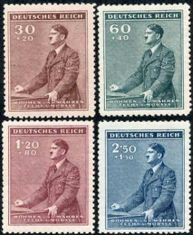 Známky Protektorát Čechy a Morava 1942, 53.narozeniny A.Hitlera