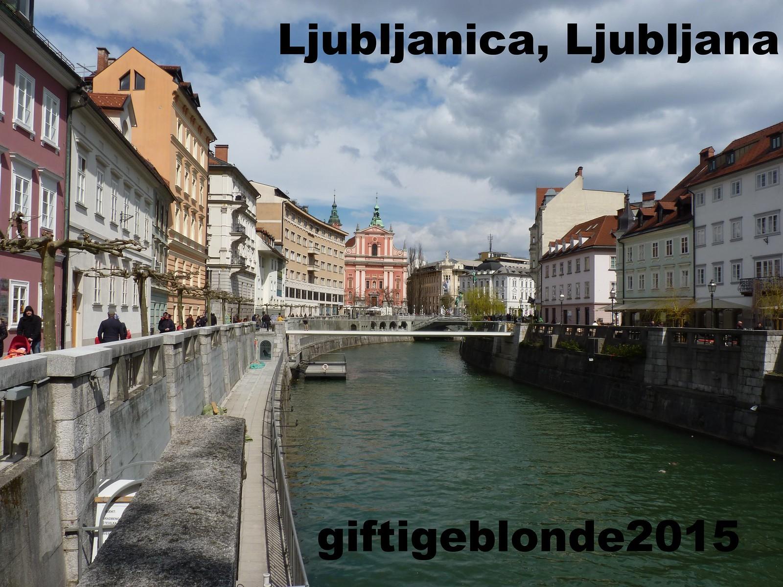 Slowenien, Ljubljana, Fluss Ljublanica
